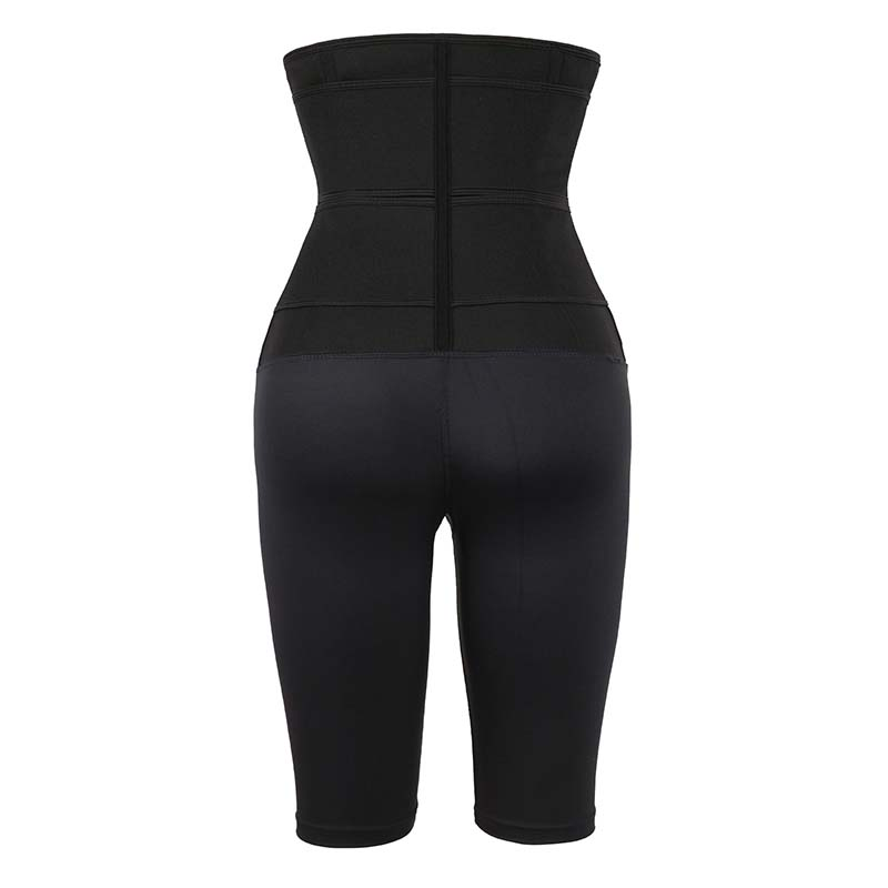 The back of Double Belt Five-Point Slimming Pants Body Shaper