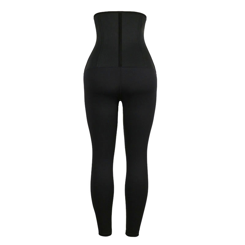 The back of Neoprene Classical Waist Trainer Jumpsuit Pants