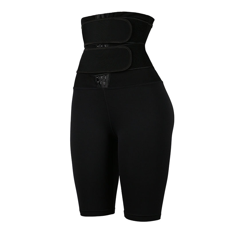 The left of 9-inch Three-layer Latex Non-steel-bonded Waist Trainer