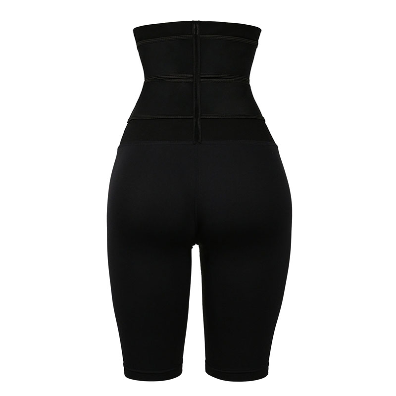 The back of 9-inch Three-layer Latex Non-steel-bonded Waist Trainer