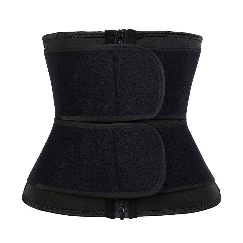 Neoprene + OK Cloth 9-steel Bones Double Belt Waist Trainer