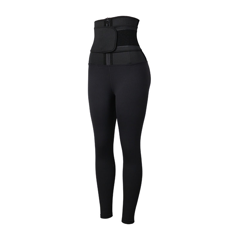 The left of 9 Inch SBR Material Body Shaping Pants With Belt