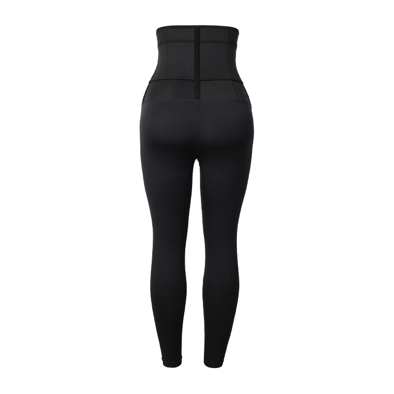 The back of 9 Inch SBR Material Body Shaping Pants With Belt