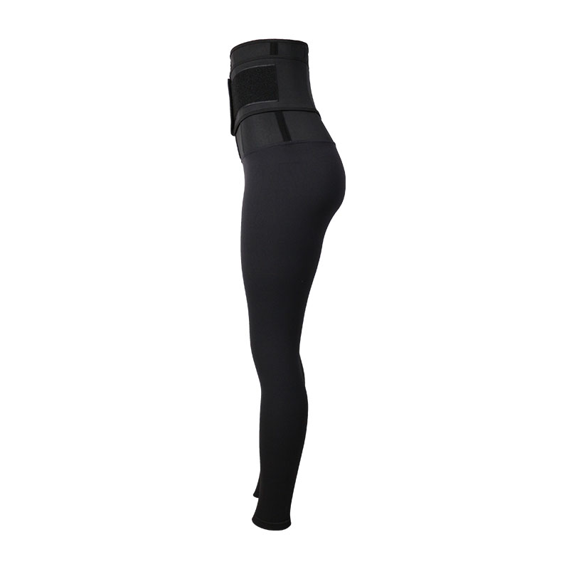 The left of 9 Inch SBR Material Body Shaping Pants