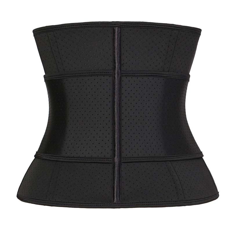 The back of 9 Steel Bone Hollow YKK Zipper Single Belt Waist Trainer