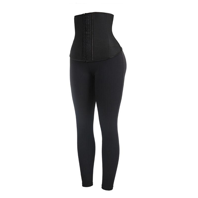 The left of Neoprene Front Long And Back Short Corset + Milk Silk Pants