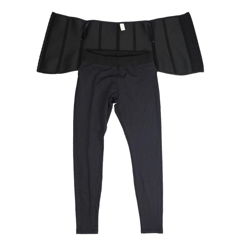 The inside of Neoprene Front Long And Back Short Corset + Milk Silk Pants