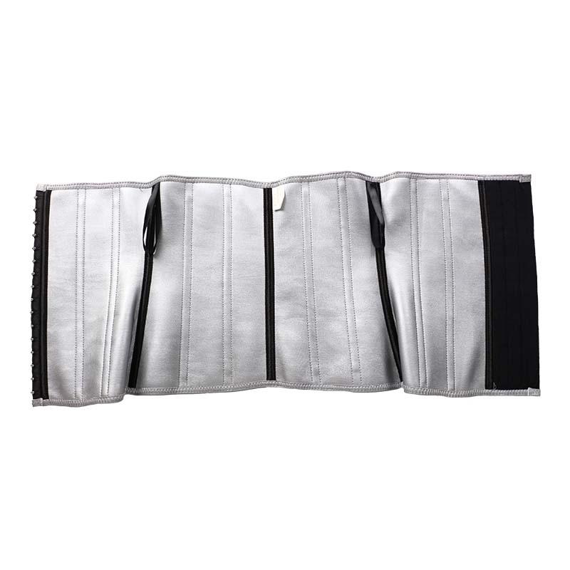 The inside of reflective strip nano silver 13 steel bone waist trainer