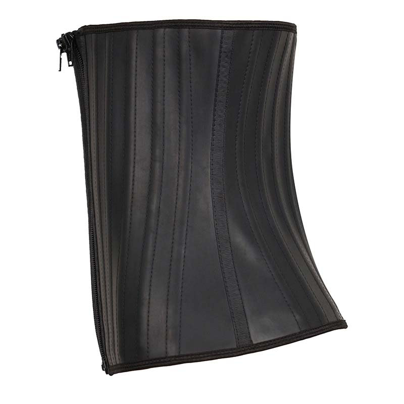 The left of smooth leather waist trainer