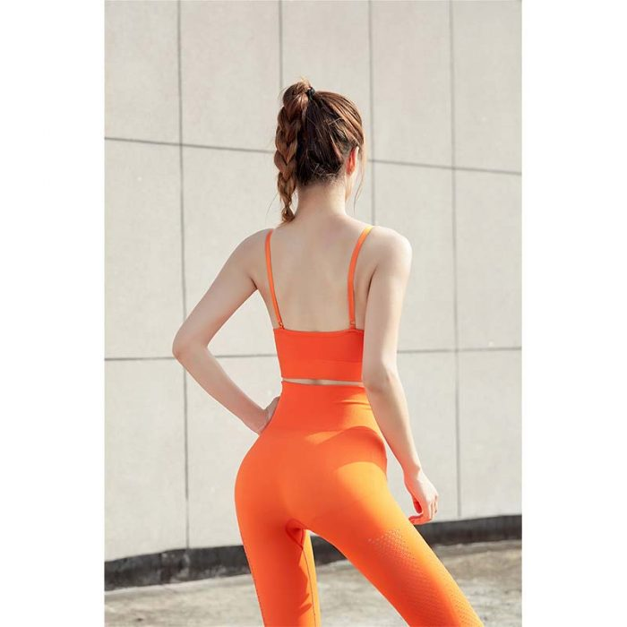 TYKM High Waisted Women Sportswear orange