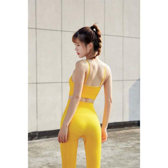 yellow Waisted Women Sportswear Bulk