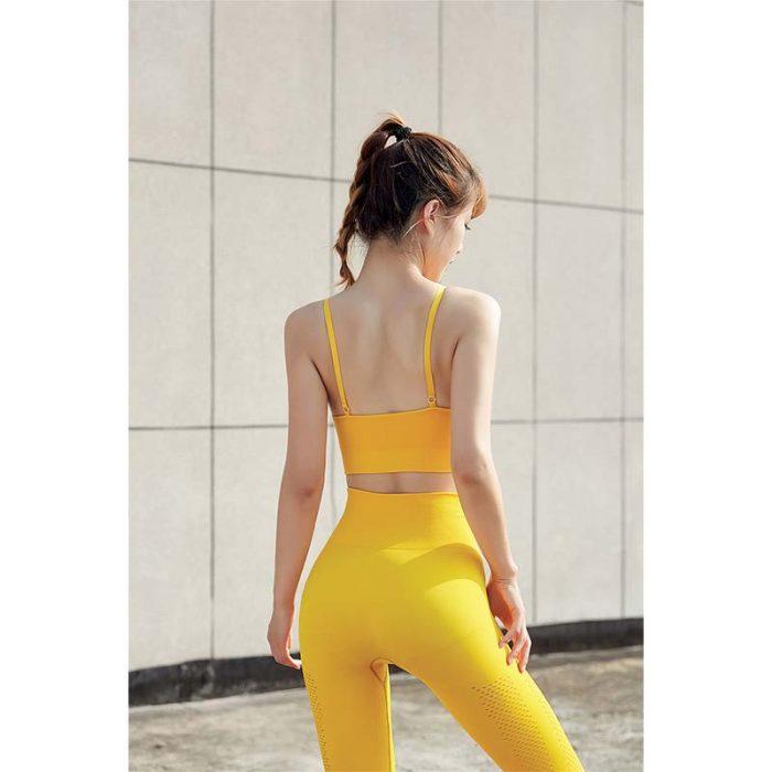 yellow High Waisted Women Sportswear Bulk