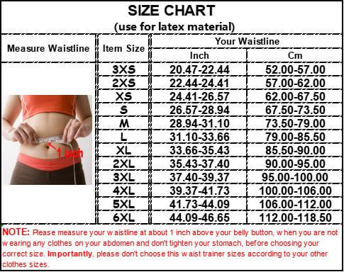 Waist Trainer size