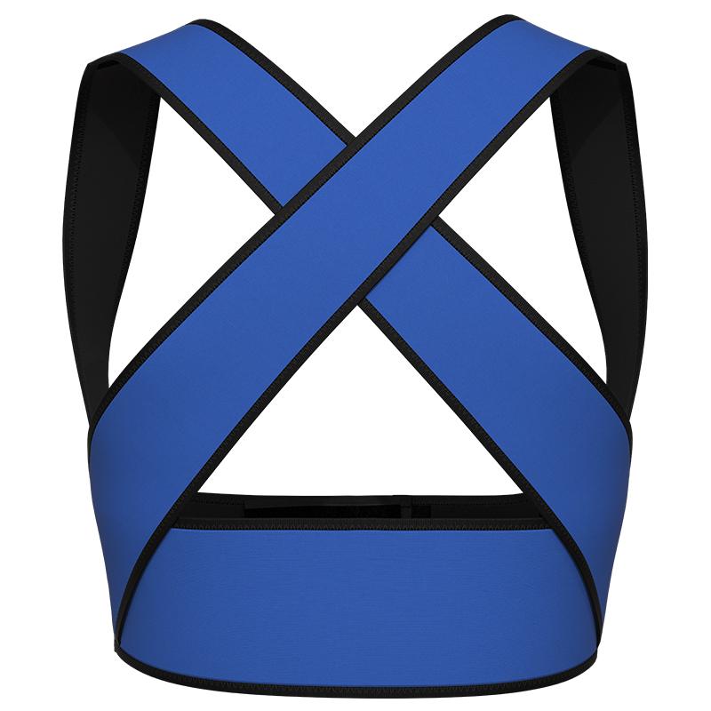 blue Latex Chest Support Waist Vest 2