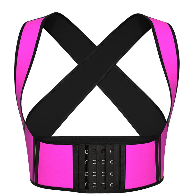 pink Latex Chest Support Waist Vest