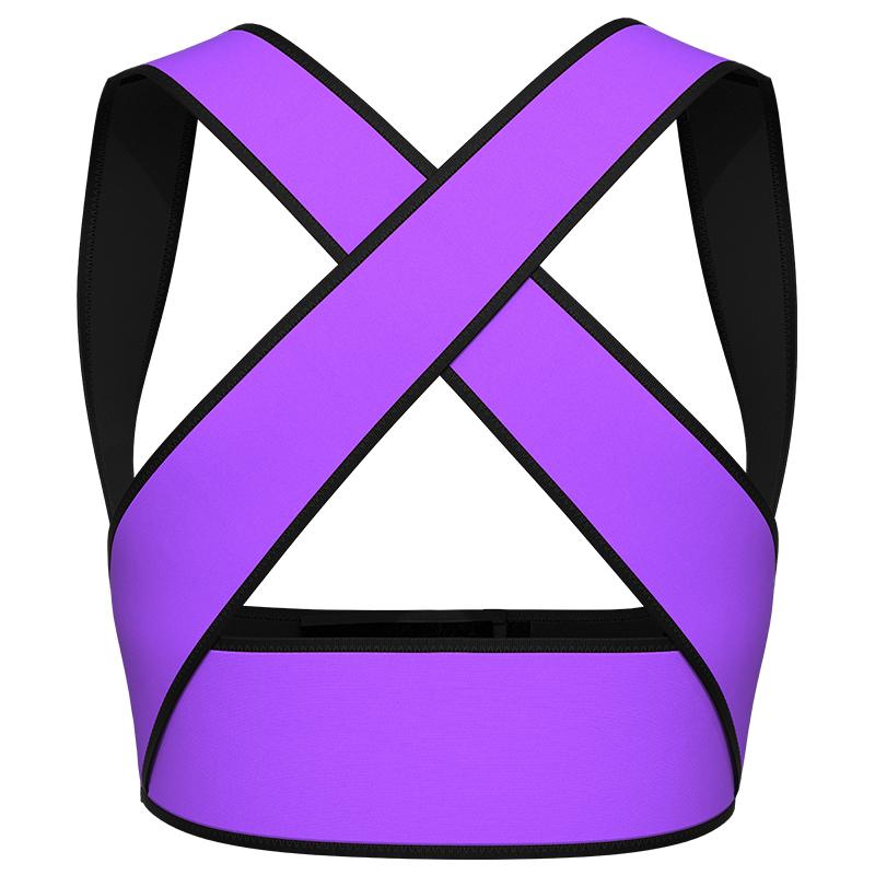 purple Latex Chest Support Waist Vest 2