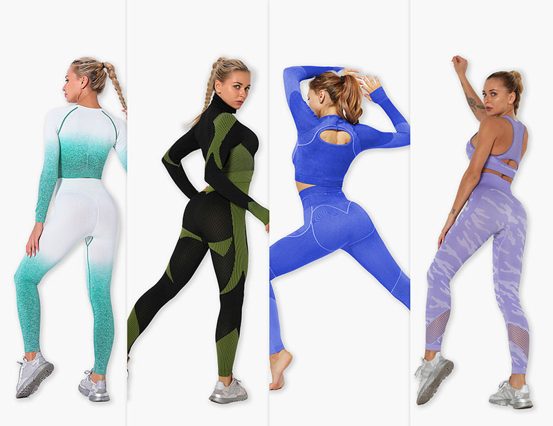 Yoga Outfit Set camouflages