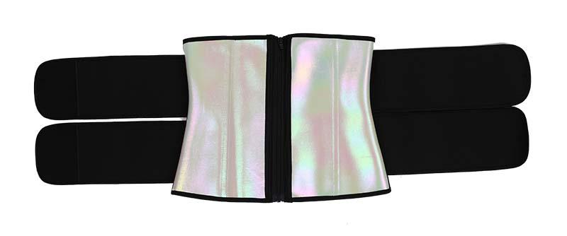 Double Belts Bright Surface Sauna Waist Trimmer 5