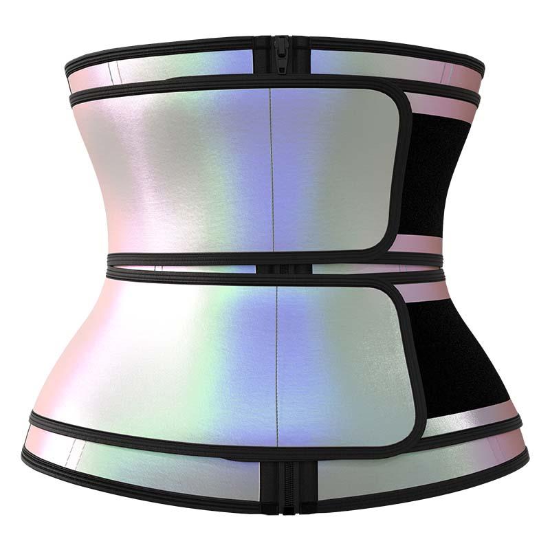 Double Belts Bright Surface Sauna Waist Trimmer 1