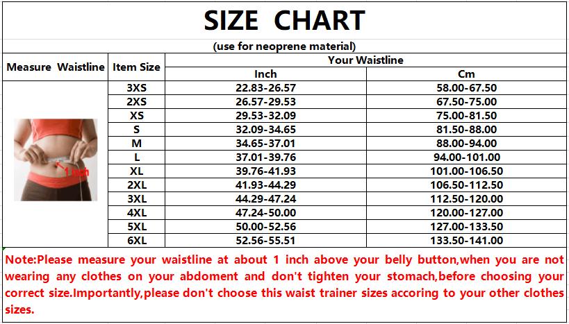 Waist Trainer For Women Weight Loss size